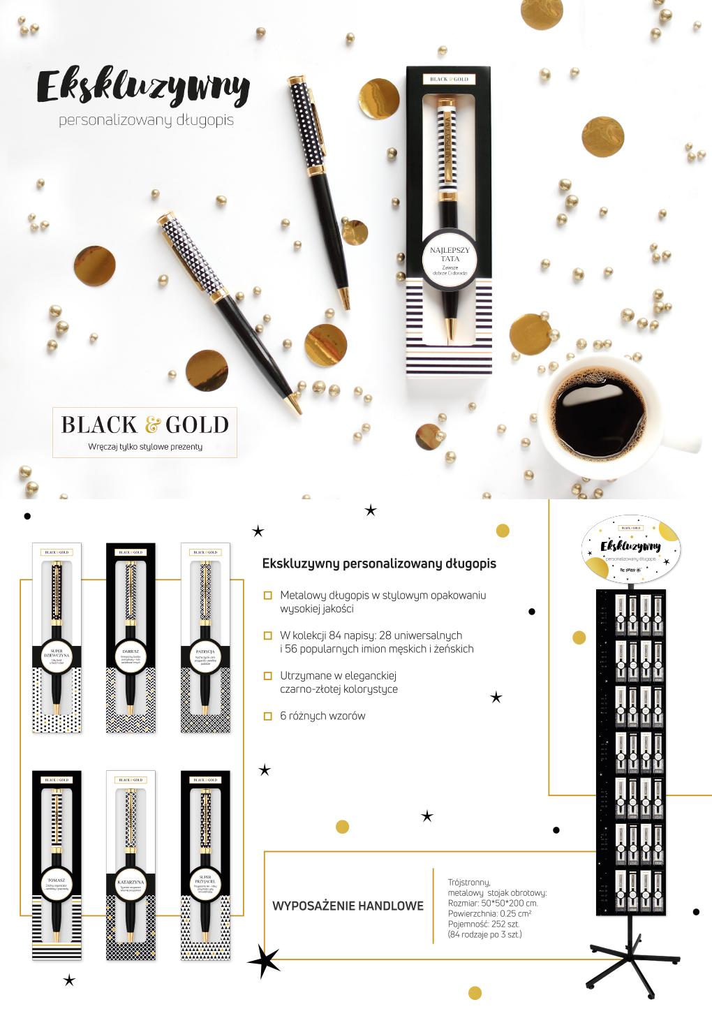 Długopis Black&Gold